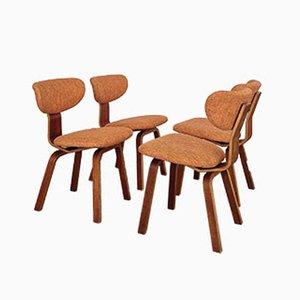 Chaises de Salon par Cees Braakman pour Pastoe, Pays-Bas, 1950s, Set de 4