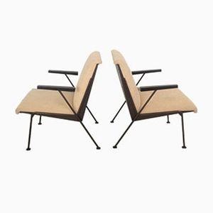 Niederländische Oase Stühle von Wim Rietveld für Ahrend de Cirkel, 1950er, 2er Set