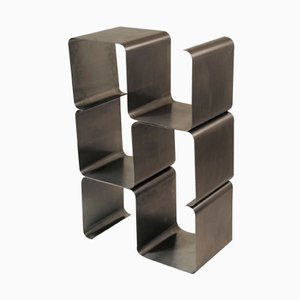 French Stainless Steel Stacking Shelf System from Kappa, 1970s