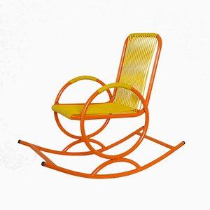 Sedia a dondolo da bambino arancione, Italia