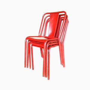 Vintage T4 Stühle von Xavier Pauchard für Tolix, 4er Set