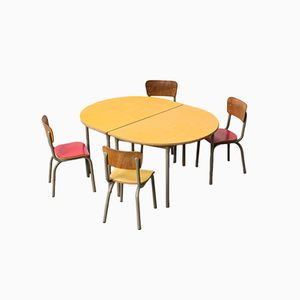 Set di banchi e sedie da scuola di Tubax, anni '50