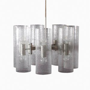 Bubble Glass Hanging Lamp from Doria Leuchten, 1970s