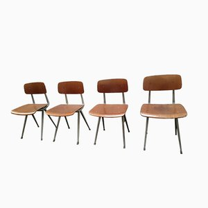 Result Stühle von Friso Kramer für Ahrend de Cirkel, 1950er, 4er Set