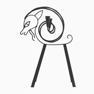 Tall Goat Candelabrum by Gunnar Ander for Ystad Metall, 1950s