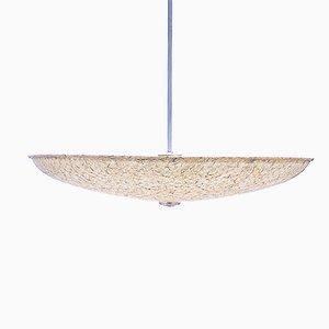 Große Glasfaser Hängelampe von Louis Kalff für Philips