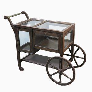 Vintage Servierwagen mit Vitrine