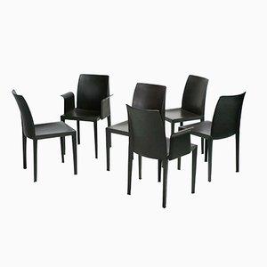 Lola Esszimmerstühle von Luigi Cerri für Poltrona Frau, 6er Set