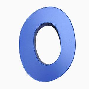 Blauer Aluminium Leuchtbuchstabe O