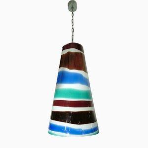 Italian Pendant Light by Massimo Vignelli for Venini, 1950s