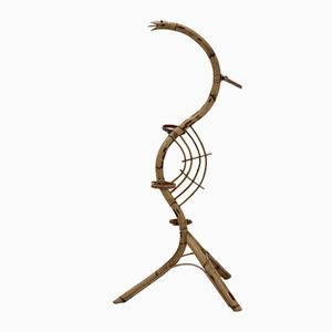 Dutch Bamboo Serpent Plant Stand from Rohe Noordwolde, 1950s