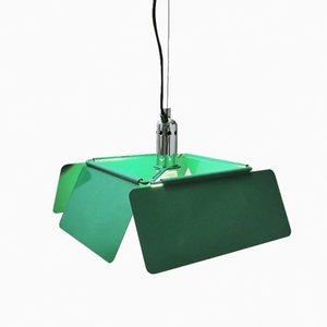 Italienische Grüne Diaframma Hängelampe von Fabio Lenci für iGuzzini, 1970er