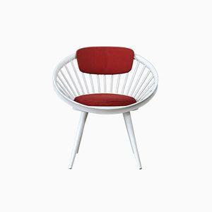 Vintage Circle Chair by Yngve Ekström