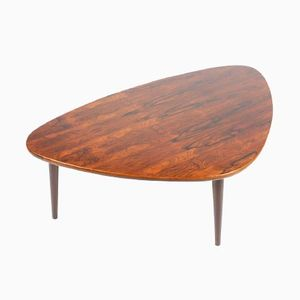 Mid-Century Danish Rosewood Tripod Coffee Table, 1960s