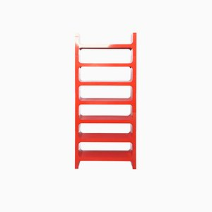 Italian Red ABS Modular Bookcase by Jo Je Bins for Vardani Design, 1970s