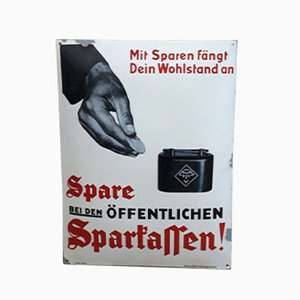 Vintage German Savings Advertisement, 1930s