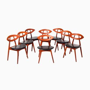Eye Chairs by Ejvind A. Johansson, 1961, Set of 8