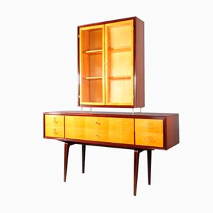 Viennese Sideboard with Display Case from Tischlerei Niedermoser, 1950