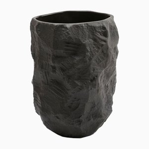 Tall Vase in Black Basalt from the Crockery Series by Max Lamb for 1882 Ltd