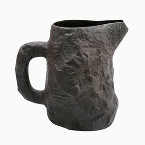 Jug in Black Basalt from the Crockery Series by Max Lamb for 1882 Ltd
