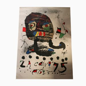 Large Spanish Mid-Century Miró Poster