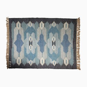 Swedish Flat Weave Rölakan Carpet, 1960s