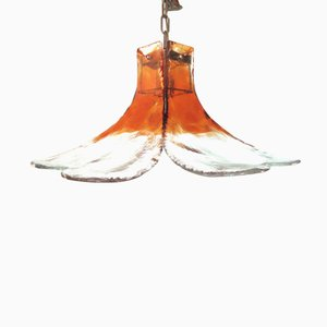 Lampada a forma di fiore in vetro di J.T. Kalmar per Kalmar, Austria, anni '70