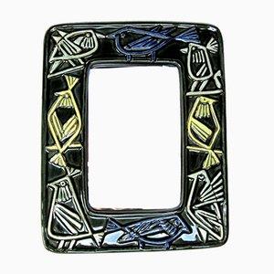 Specchio in ceramica di Lisa Larson per Gustavsberg, Svezia, anni '60