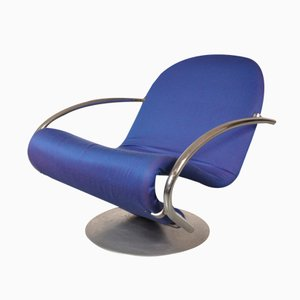 Danish First Edition Swivel Easy Chair by Verner Panton for Fritz Hansen, 1960s