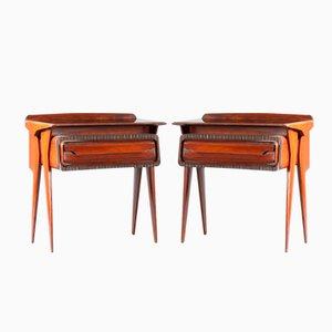 Tables de Chevet en Palissandre, Italie, 1950s, Set de 2