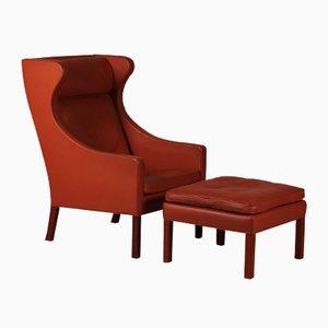 Dänischer Hocker von Børge Mogensen für Fredericia Furniture, 1980er