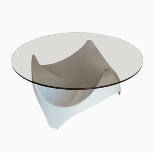 Mid-Century Smoked Glass Coffee Table from Opal Möbel, 1960s