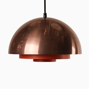 Dänische Milieu Lampe aus Kupfer von Jo Hammerborg für Lyfa, 1970er