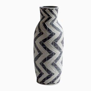 Hohe Zig Zag Vase von Dana Bechert
