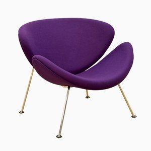 Purple F 437 Orange Slice Chair by Pierre Paulin for Artifort