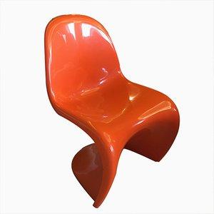 Rot S Stuhl von Verner Panton für Fehlbaum, 1972