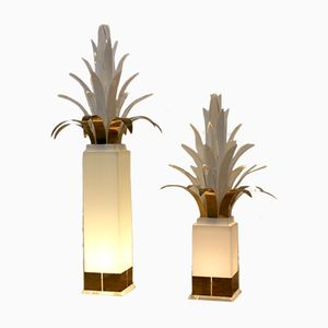 Mid-Century Palm Tree Floor Lamps by Peter Doff for Bergers Design, 1970s, Set of 2