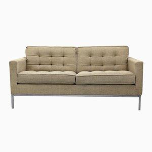 Zwei-Sitzer Sofa mit Chromgestell & Wollbezug von Florence Knoll für Knoll, 1970er