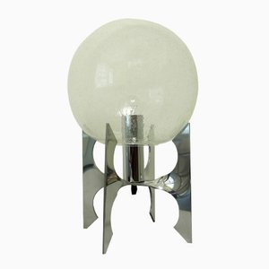 Deutsche Apollo Tischlampe mit Glaskugel, 1970er