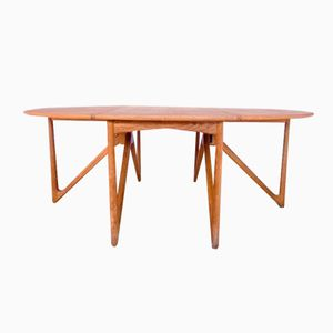 Mid-Century Oak Drop Leaf Dining Table by Kurt Ostervig for Jason Mobler