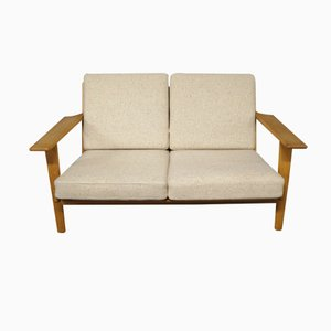 GE 290 Two-Seater Sofa by Hans J. Wegner for Getama, 1960s