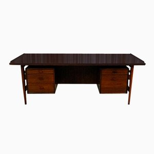 Large Mid-Century Rosewood Executive Desk by Arne Vodder for Sibast