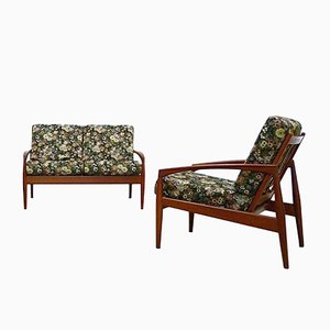Teak Paperknife Sofa & Easy Chair by Kai Kristiansen for Magnus Olesen