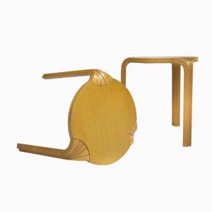 Finnische X600 Buchenholz Hocker von Alvar Aalto für Artek, 1950er