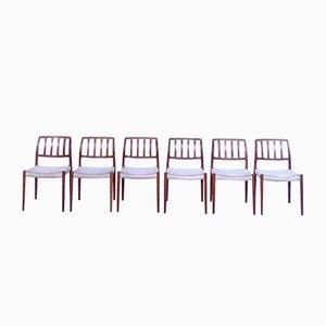 Chaises de Table à Manger Modèle 83 en Teck par Niels O. Møller pour J.L. Møller, Danemark, 1970s, Set de 6