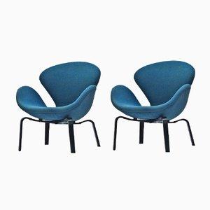Swan Polsterstühle von Arne Jacobsen für Fritz Hansen, 1969, 2er Set