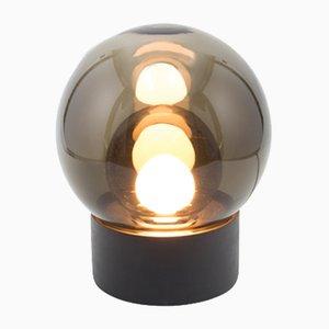 Small Boule aus Grauem Rauchglas mit Schwarzem Sockel von Sebastian Herkner für Pulpo & Rosenthal