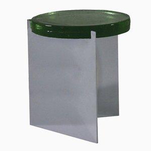 Alwa in Silber Beistelltisch mit Grüner Glasplatte von Sebastian Herkner für Pulpo