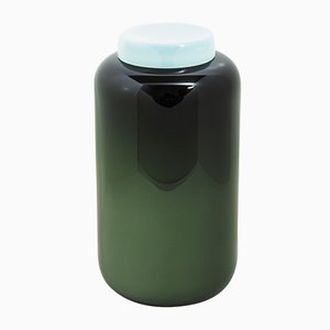 Container High in Black and Celadon Green by Sebastian Herkner for Pulpo