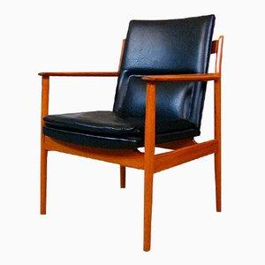 Danish Teak 341 Armchair by Arne Vodder for Sibast, 1960s